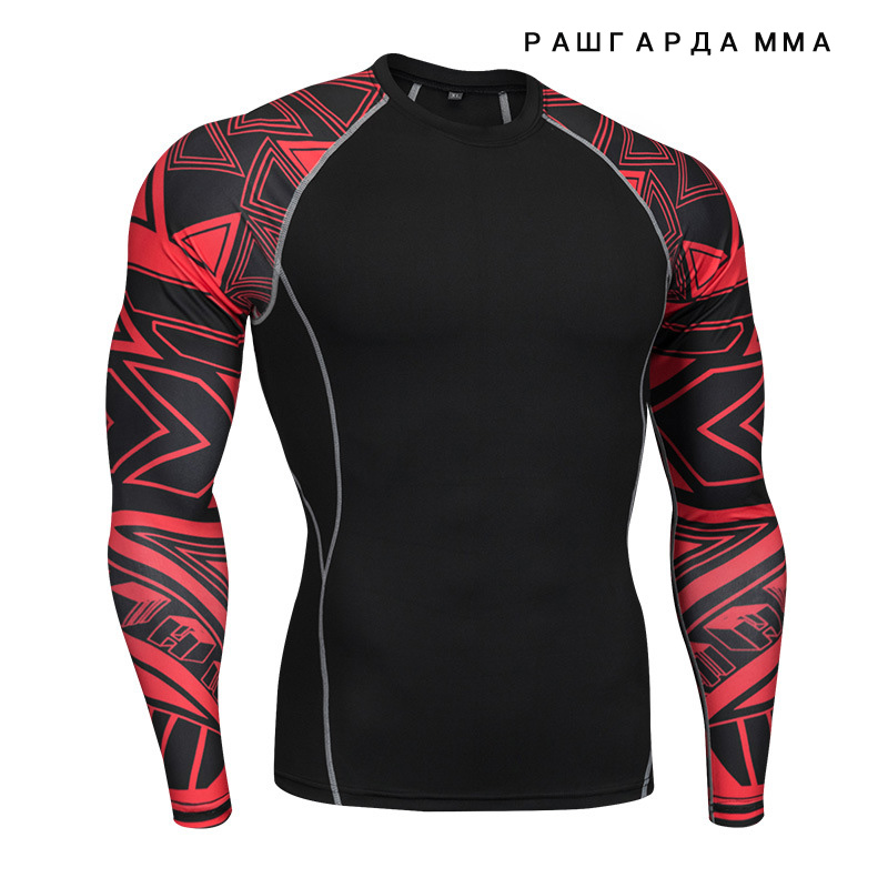 mens tracksuit crossfit T-shirt tights rash gard MMA mens track suits Fitness Top compression T-Shirt muscle shirt 4XL