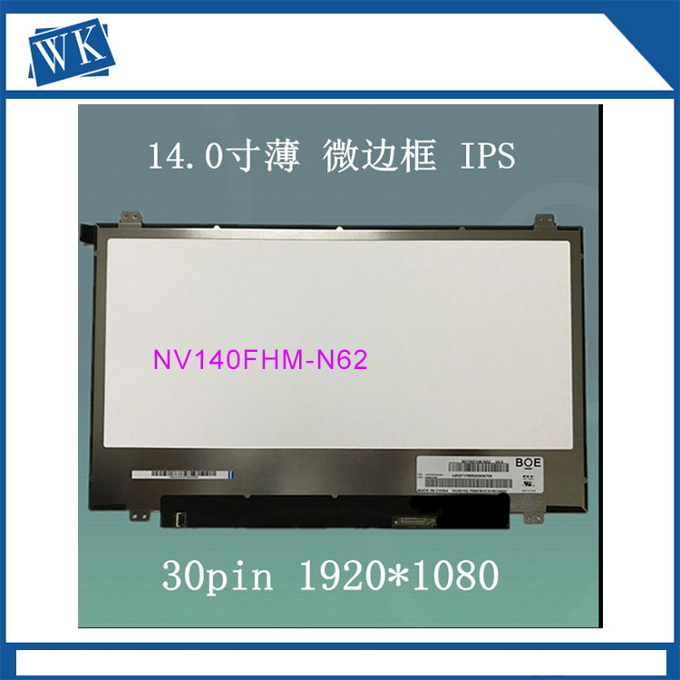 For BOE NV140FHM-N62 V8.0 V80 NV140FHM N62 N140HCA-EAC NV140FHM-N3B LCD Screen for Laptop 14.0 FHD 1920X1080 30pin Matte free shipping original new n140hca eba n140hca eba 14 inch laptop lcd screen