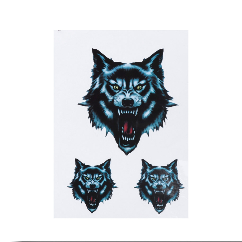Vinyl Wolf Head Decals Waterproof Funny Self-adhesive Sticker for Motorcycle Motorbike Car Door Stickers Truck Helmet Decor image