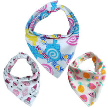 Baby Bibs Infant Burp Cloths Toddler Scarf Feeding Bib Bandana Waterproof Double layers Cotton Baby Feeding Accessories(China)