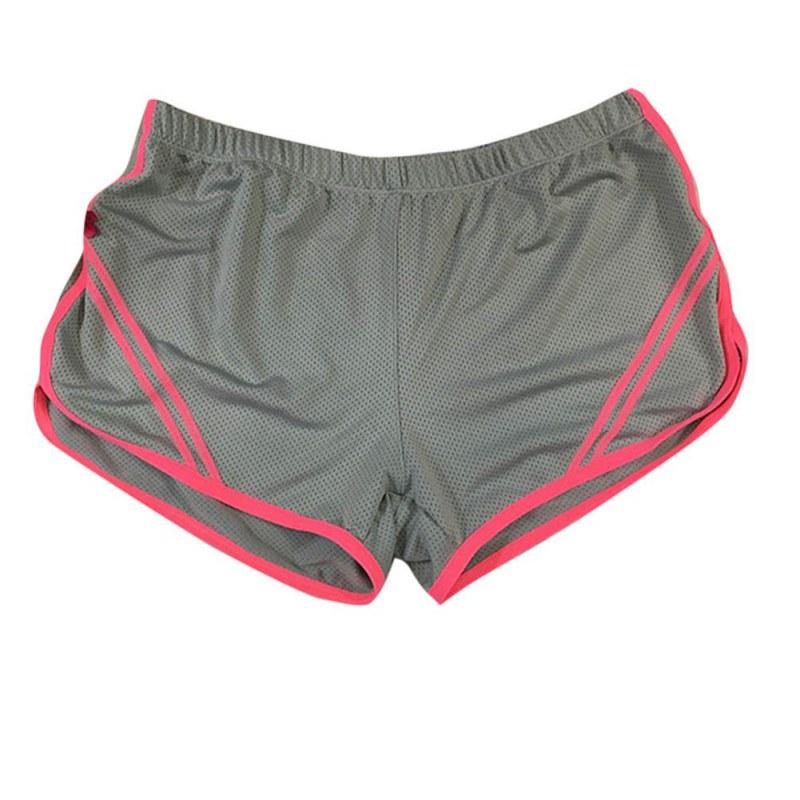 Women Shorts Summer Breathable Elastic Waist Fitness Running Shorts