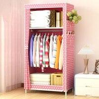 45*70*150cm Folding Fabric Wardrobe for Student Dormitory Clothes Storage Cabinet Closet Organizer Home Storage & Organization