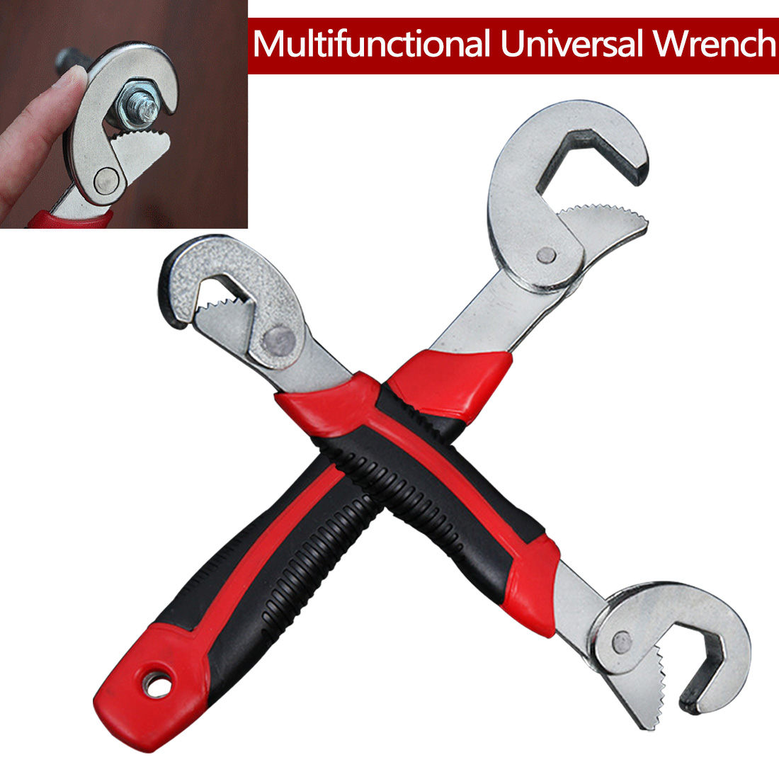 Hand tools Multi-Function Universal Wrench Set Snap and Grip Adjustable Wrench Set 9-32MM For Nuts and Bolts of 2 Sizes