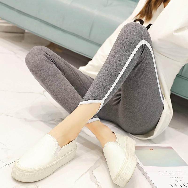 New Autumn Women Cotton Leggings Plus Size 5XL Elasticity Pant Stripes Slim Lady Gothic Fitness Legging Sporting Women Trousers