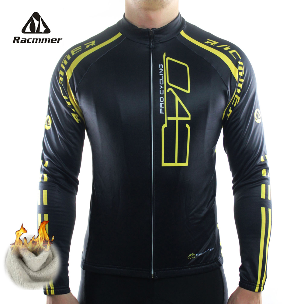 Racmmer 2017 Cycling Jersey Winter Long Bike Bicycle Thermal Fleece Ropa Roupa De Ciclismo Invierno Hombre Mtb Clothing #ZR-18 black thermal fleece cycling clothing winter fleece long adequate quality cycling jersey bicycle clothing cc5081