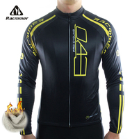 Racmmer 2016 Cycling Jersey Winter Long Bike Bicycle Thermal Fleece Ropa Roupa De Ciclismo Invierno Hombre