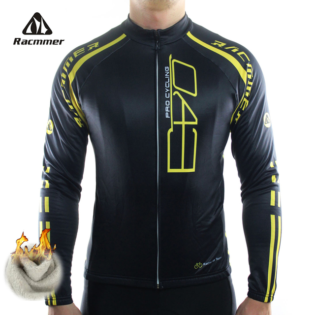 Racmmer 2018 Cycling Jersey Winter Long Bike Bicycle Thermal Fleece Ropa  Roupa De Ciclismo Invierno Hombre Mtb Clothing  ZR-18 d779f3031