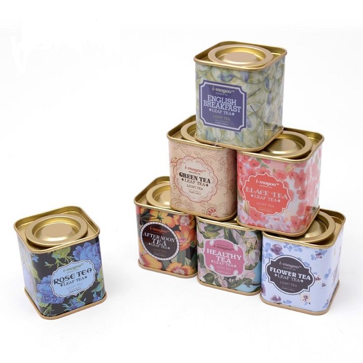 Buy free shipping vintage useful storage for Small tin containers