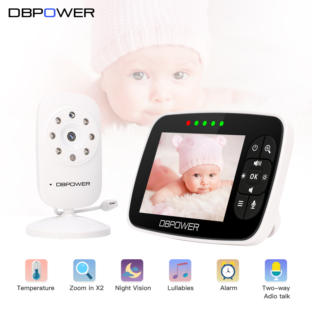 DBPOWER Infant 2.4GHz 3.5'' LCD Display Wireles Baby Monitor