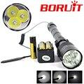 6000Lumen 3T6 LED Tactical Flashlight Hunting 5 Mode 3* XM-L T6 LED Torch Lamp Linternas Lanterna 18650 Battery + Clip