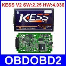 Mejor Calidad V2.25 KESS V2 OBD2 Gerente Sintonía Kit HW V4.036 No Tokens Limited Maestro Versión KESS V2 Actualizado Por Enlace DHL envío