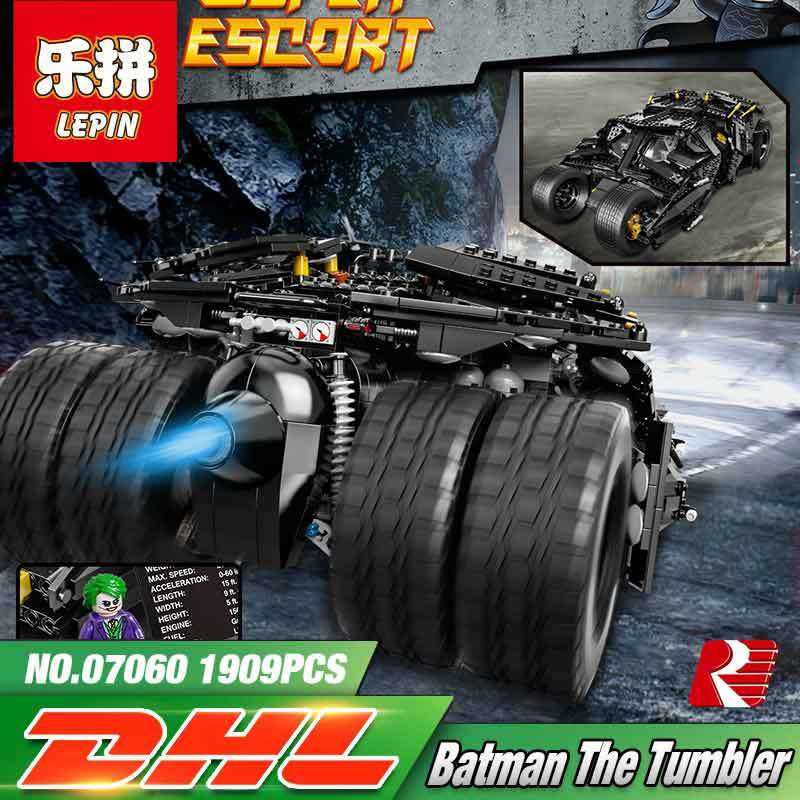 Lepin 07060 1969pcs Super Herose Movie Building Blocks toys Batman Armored Tumbler kids Bricks toy gifts Compatible Legoe 76023 lepin 07060 super series heroes movie the batman armored chariot set diy model batmobile building blocks bricks children toys