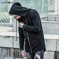Envmenst 2017 Moda Projetado High Street Hoodies dos homens Com Capuz Zipper Cardigan Camisolas Para Homens Eur Estilo Hip Hop Estilo
