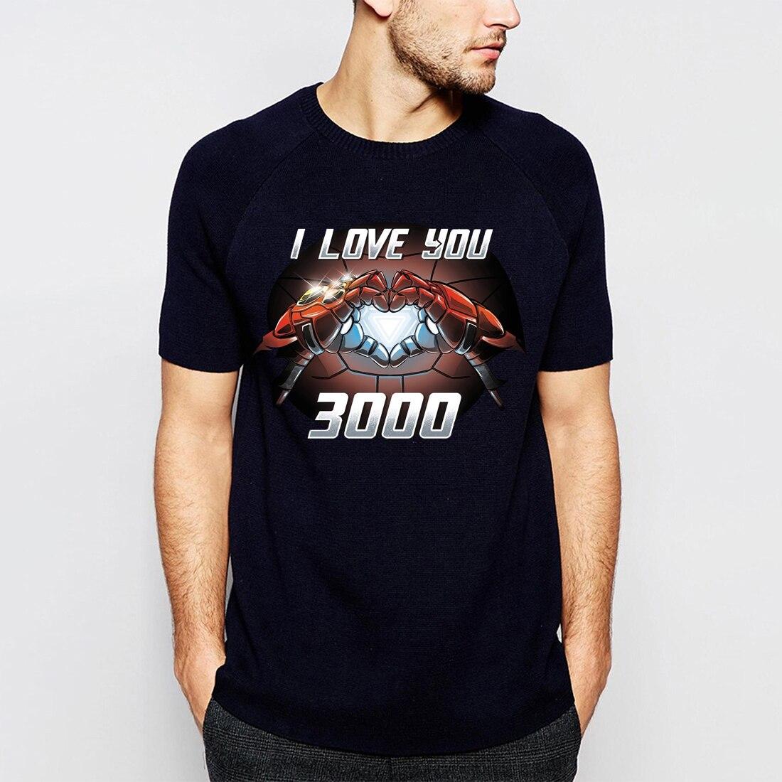 EU Te amo 3000 T-Shirt Dos Homens Os Vingadores Tony Stark Homem De Ferro Camisa Moive 2019 Novo Ocasional do Verão Plus Size tops Tees S-3XL