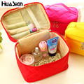 2016 New Solid Color Make Up Bag Portable Travel Comestic Bag Organizer Cosmetic Bag Wash Luggage Zipper Storage