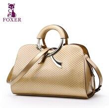 Foxer bolso de la marca 2017 nuevos bolsos de cuero de moda bolso retro bolsa de hombro/bolsos de las mujeres famosas marcas