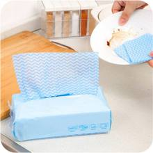 80pcs Environmental Disposable Washing Dish Towel Magic Kitchen Cleaning Cloth Non Stick Oil Wiping Rags