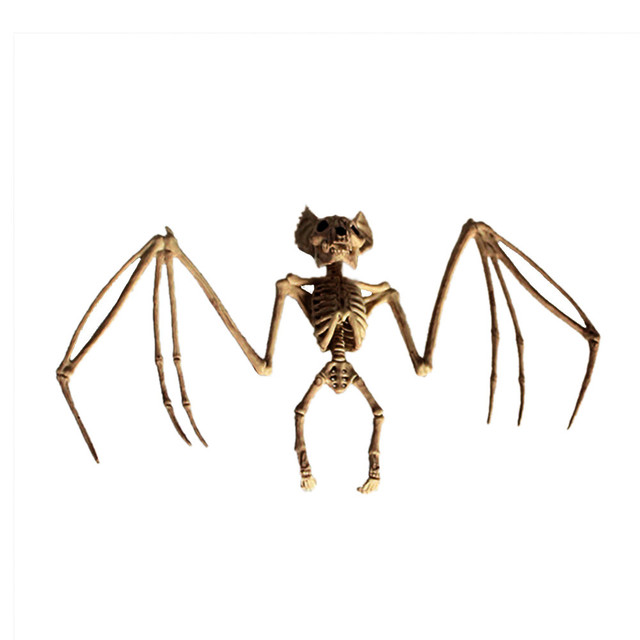 NEW Creepy Skeleton Bat Crazy Bonez Halloween Scary Decoration Decor Seasons Home Decoration Ornaments Decor Crafts SA65