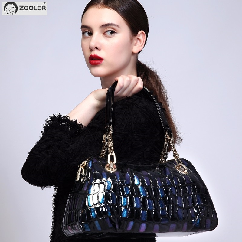 ZOOLER Brand luxury genuine leather bag for women leather bag female women's handbags fashion shoulder bags tote purse WP-132