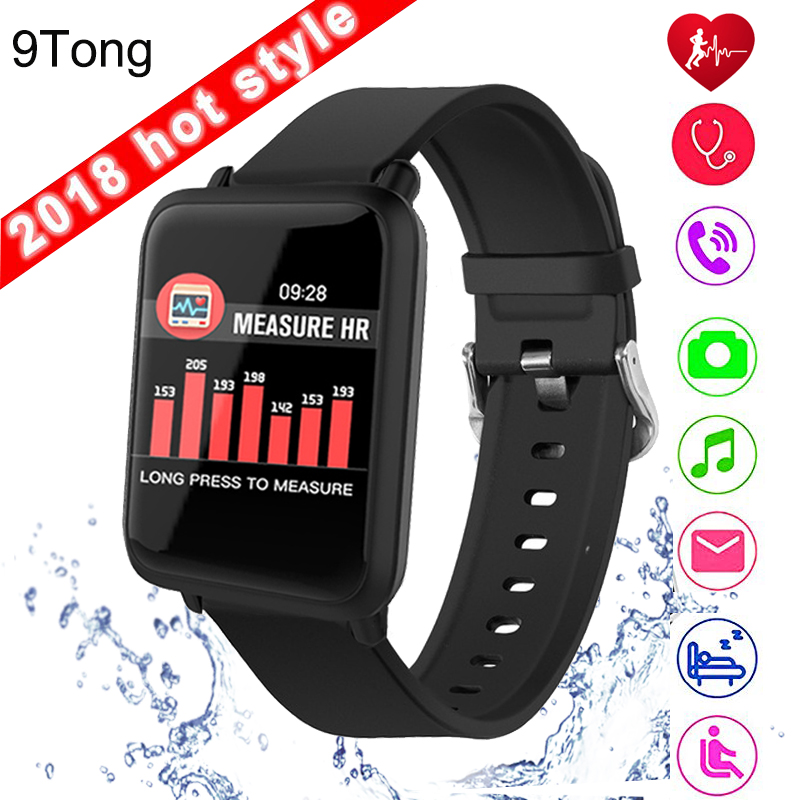 9Tong Bluetooth Smart Watch Big Screen Blood Perssure Waterproof Smart Watches for men women for Android IOS PK Amazift bip #C0