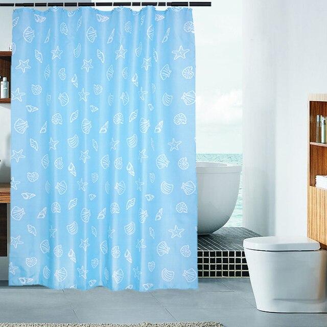 Duschvorhang Modern shower curtain polyester modern shells starfish eco bedroom