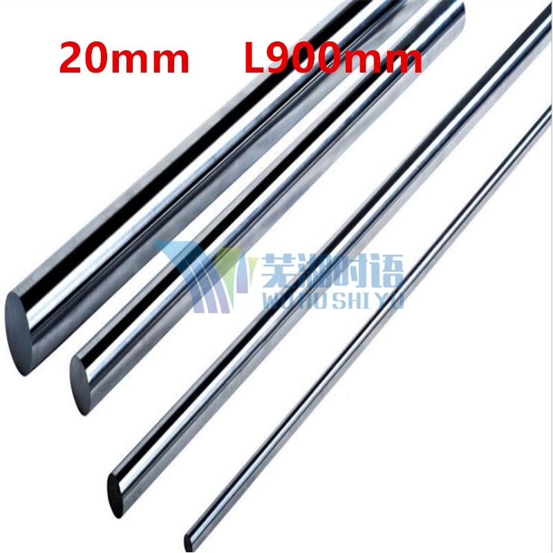 2pcs/lot Diameter 20mm linear round shaft L900mm cnc linear rail 20mm rod shaft cnc parts 2017 1 x lmk20uu lmk20 20mm round flange linear ball bearing bushing for 20mm linear shaft guide rail rod round shaft cnc parts