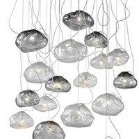 Modern Minimalist Restaurant Pendant Lamp Bar Creative Cloud Shaped Glass Pendent Lights E27 Dinning Room Decor Light Fixtures