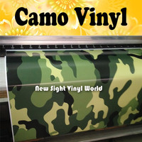 Green Military Camouflage Wrap Jungle Camo Vinyl Wrap Sheet Bubble Free Vehicle Wrap Size:1.50*30m/Roll