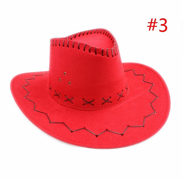 גברים נשים כובעי קאובוי מפואר בציר שוליים רחבים בארה  ב Cap המערבי ... c91a43c773aa