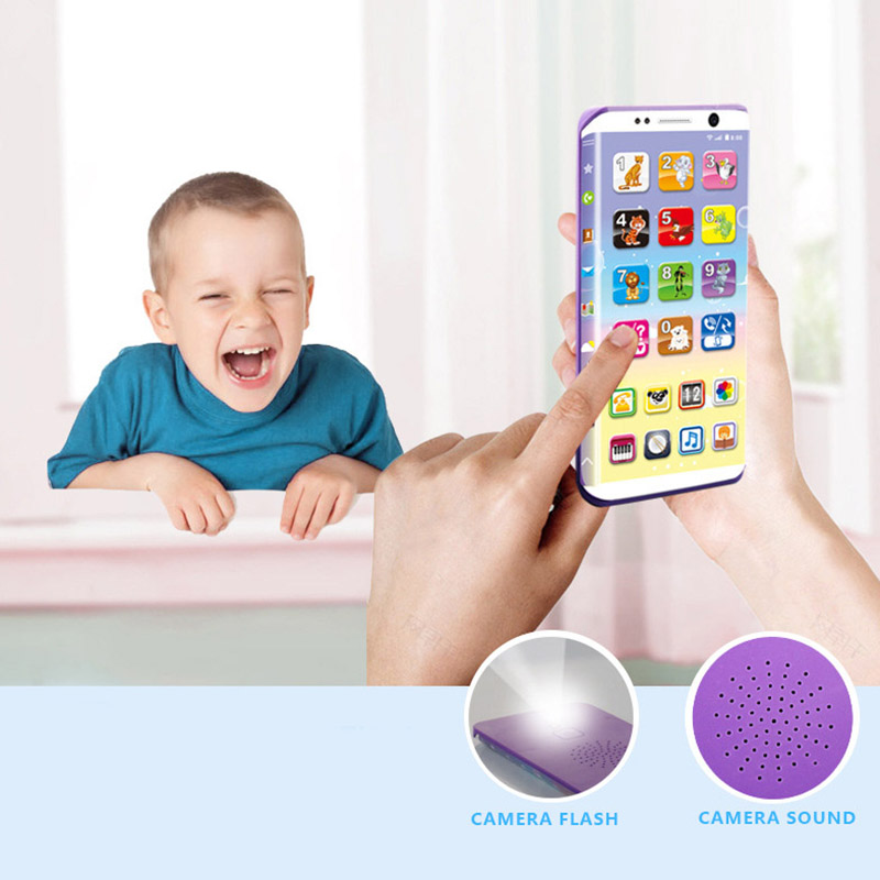 Kids Smart Phone Toys Educational Smart Phone Toy USB Port Touching Screen for Child Kid Baby 88 YJS Dropship