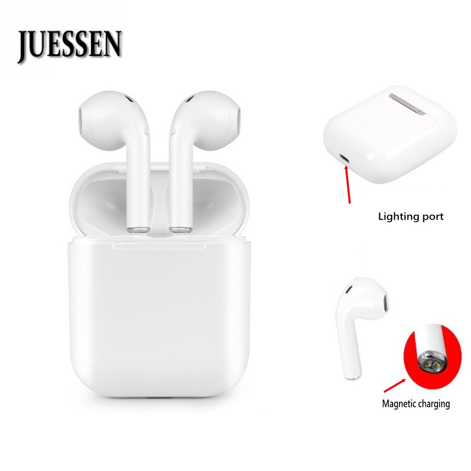 iFANS TWS Wireless Headset Magnetic charging Mini Bluetooth Earphone Stereo Headphone Sport Earbud Earphones With Mic for iphone tws mini bluetooth earphones wireless headset stereo headphones sport earbud earphone with mic for phone xiaomi
