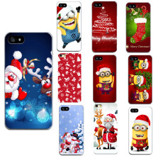 Merry Christmas For Apple Iphone 7 7Plus 6 6S 5 5S SE 4 4S Cases Soft Santa Claus Print  Phone Bags For Iphone 7 6 Cases