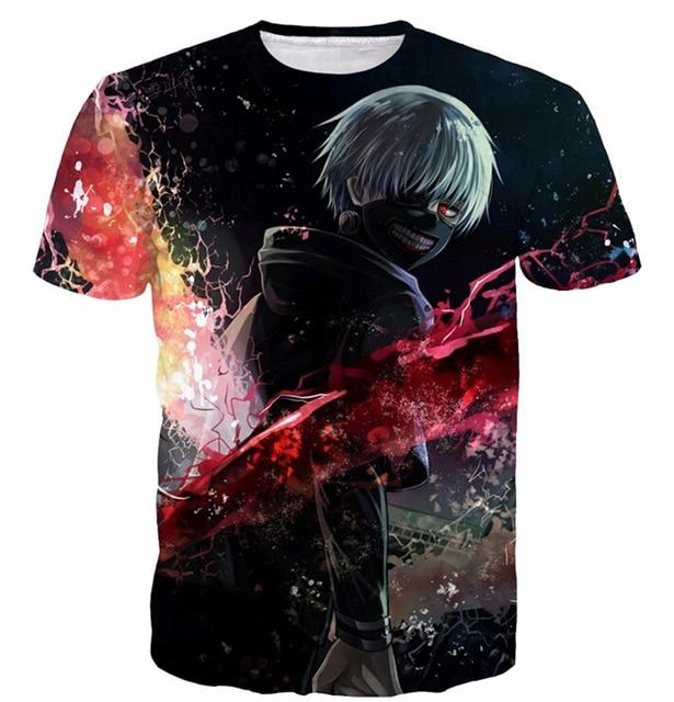 Harajuku Tokyo Ghoul 3D Casual T-shirt