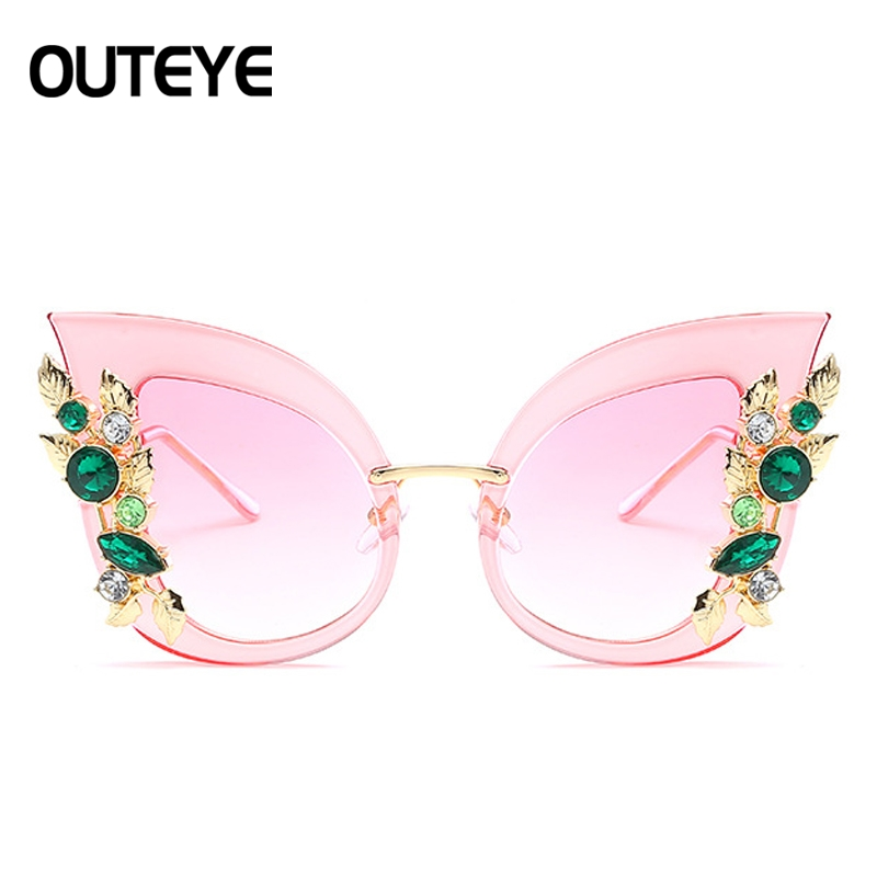 Del Oversize 04 Diamante Design Luxuary 05 02 Gatto Sole Donne Femminile 06 03 Nuovo Di Variopinto Occhiali Occhio Delle 01 Cateye Da v6fHHwq