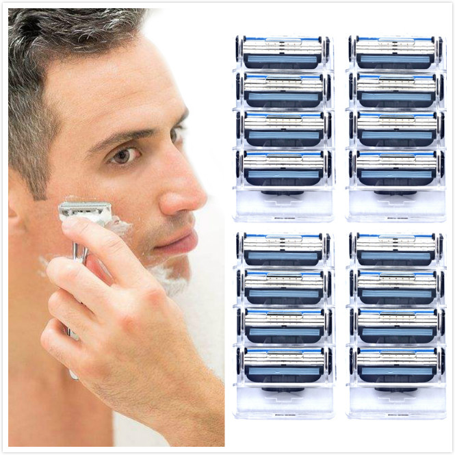 16pcs/pack Giulietta 3 Layer Blade Men Face Shaving Razor Blades Mache 3 Razor Blades Fit Men