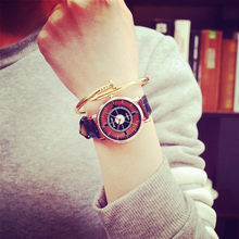 Women Neutral Personality Simple Analog Wrist Delicate Unique Hollow Watch Luxury Business Watches Hot Sale Flowers Dress A40(China)