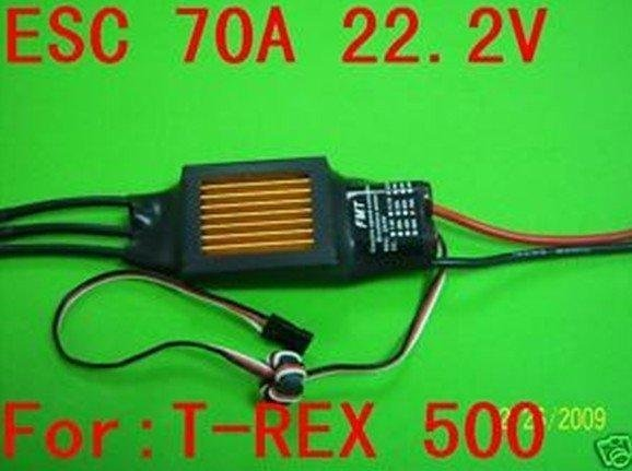 F00404 JMT 70A 22.2V ESC Speed Controller For TREX 500 RC Helicopter Heli 3D + FS