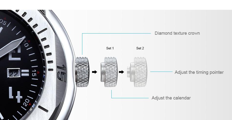 SINOBI Surfing Clock 3Bar Waterproof Watch Mens Sports Wristwatch Designer Branded Chronograph Male Spy Geneva Quartz-watch 007 10