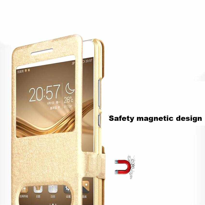 Case For Huawei Y6 Y7 Y9 Y5 Y3 II Prime Pro P Smart Plus 2017 2018 2019 Filp Windows PU Leather Phone Case Cover Shell
