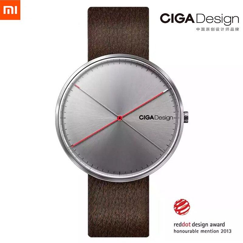 Hommes de Montre X Série Xiaomi CIGA Conception Montre-Bracelet Reddot Gagnant Montre De Mode Simple Rétro Loisirs En Cuir Couple Quartz Horloge