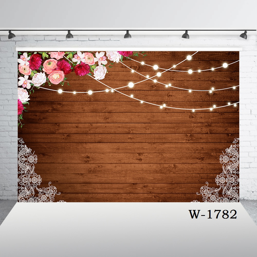 Rustic Floral Wooden Backdrop Bridal Wedding Photography Pictures