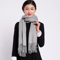 Шерсть однотонные женские/мужские из овечьей шерсти зимние Шарфы женщина/человек теплый шарф палантины платки 70x200 см NF