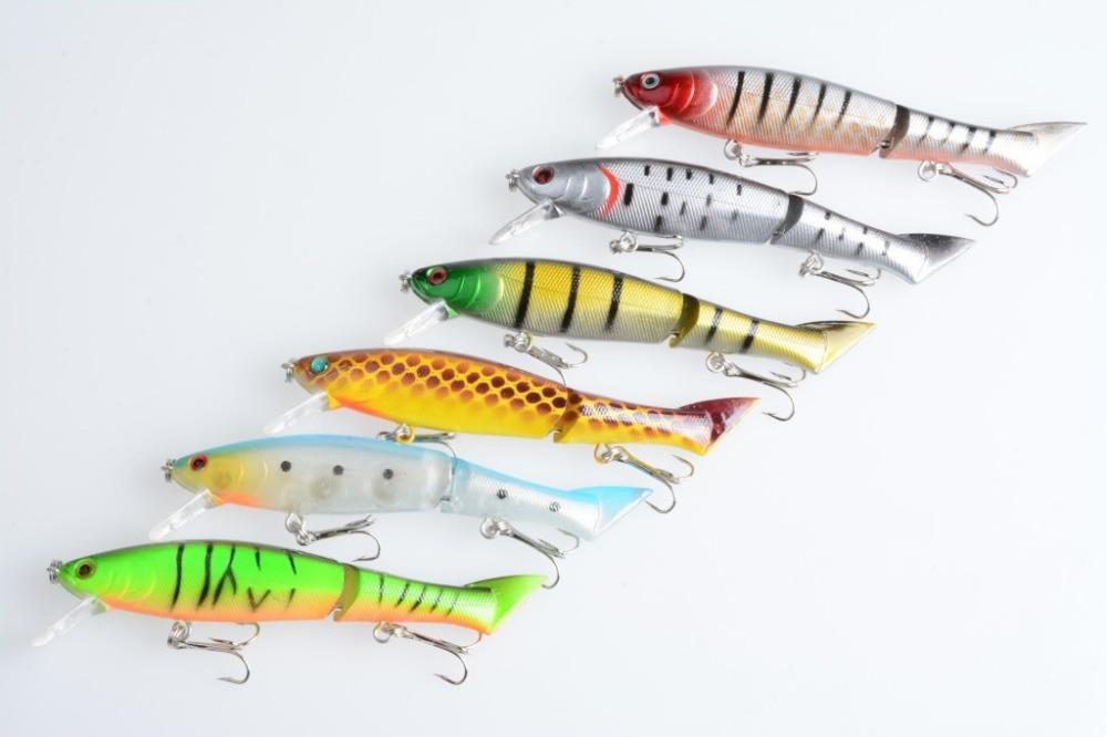 5PCS Minnow Fishing Crankbait Crank Fish Bass lure hook baits 12cm//13.5g