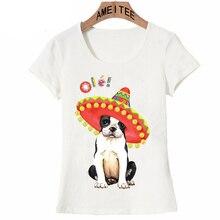 a32fb3edf AMEITTE Harajuku Fiesta Boston Terrier Women t-shirt Pug/Dalmatian/Yorkie  design