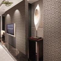 beibehang Geometric brick wallpaper roll vintage embossed vinyl wall paper for bedroom background wall wallpaper for living room