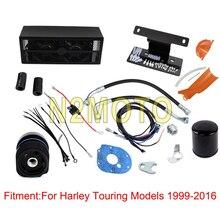 цены Motorcycle Black Chrome Oil Cooler 2.0 Reefer for Harley Touring Road King Street Glide Road Glide FLHX FLHR FLTR 1999-2016
