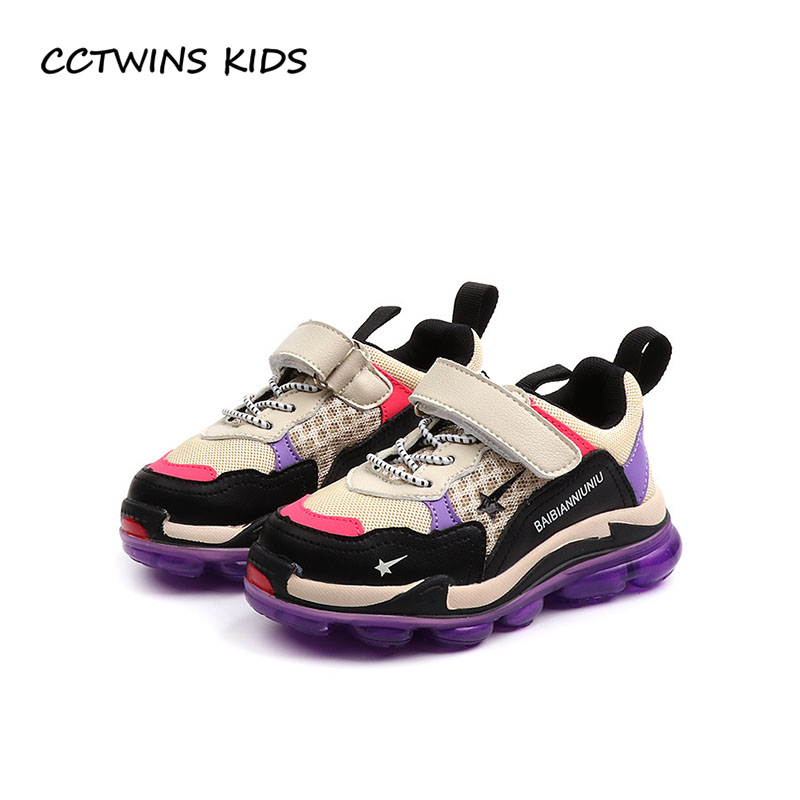 CCTWINS KIDS 2018 Autumn Children Mesh Casual Trainer Baby Girl Fashion Sport Sneaker Boy Brand Black Shoe FS22405