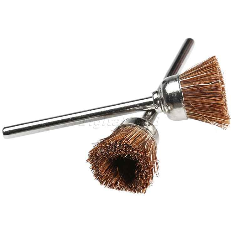 5 Pcs Brown Soft Nylon Cup Brush Polishing Buffing Polisher Tool