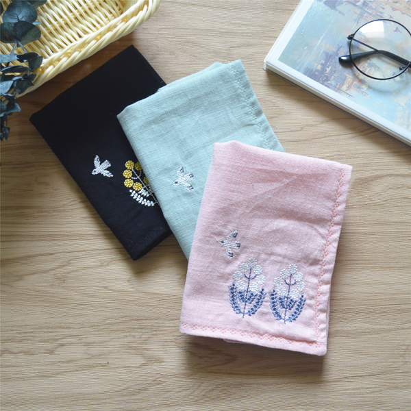 The Original Cotton Embroidered Shu Ms Students Handkerchief Literary Small Pure And Fresh And Absorb Time! A Birthday Present