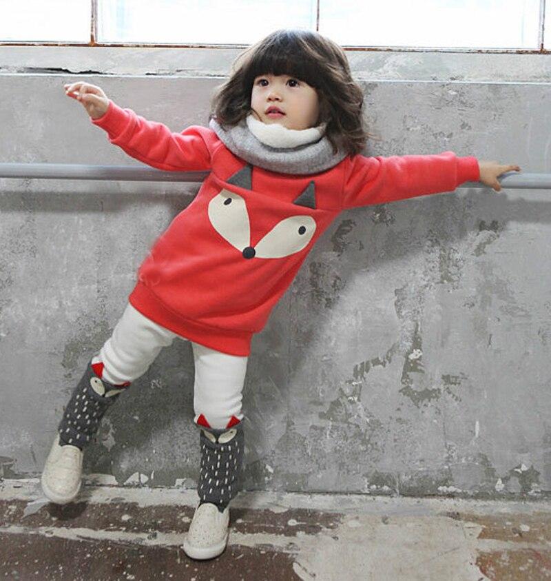 Rudens ziemas jauks mazuļu meiteņu sporta krekliņš Jauks bērnu - Bērnu apģērbi - Foto 2